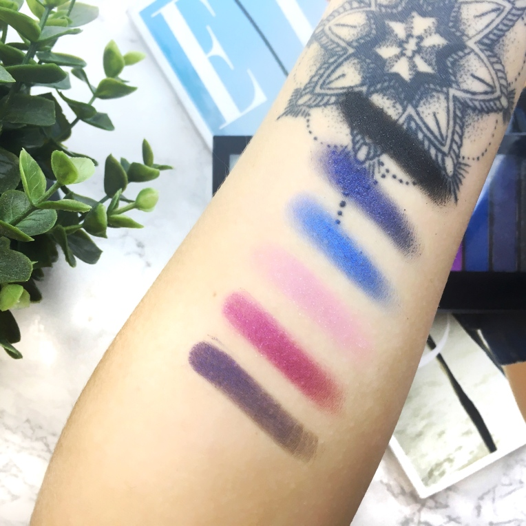 Makeup-Revolution-Mermaid-vs-Unincorn-Palette-Swatches